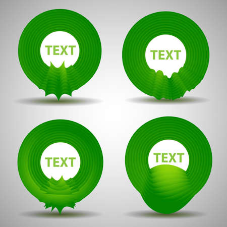 Abstract Speech Bubble Design Set Vector