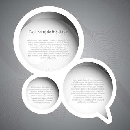 invitation card: Burbuja del discurso Vectores