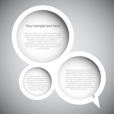 marcos decorativos: Burbuja del discurso Vectores
