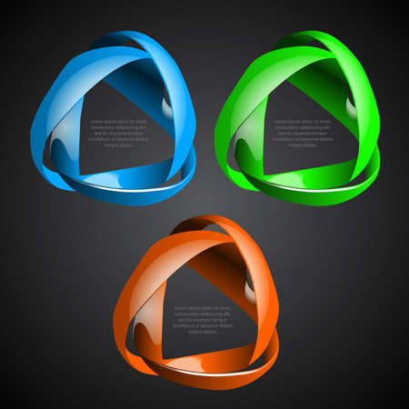 circle shape: Colorful Abstract Speech Bubbles