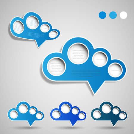pitted: Speech Bubbles - Cloud Design