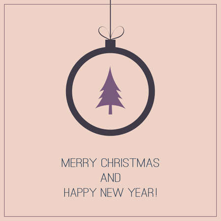 Christmas Greeting Card - Christmas Ball Vector