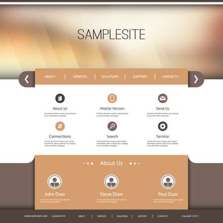 web site design template: Website Template with Abstract Header Design