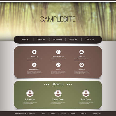 original circular abstract: Website Template with Abstract Header Design