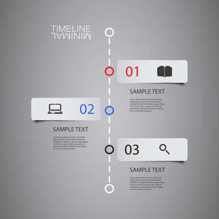 Vector Infographic Timeline - Report Design Template with Labels Vector