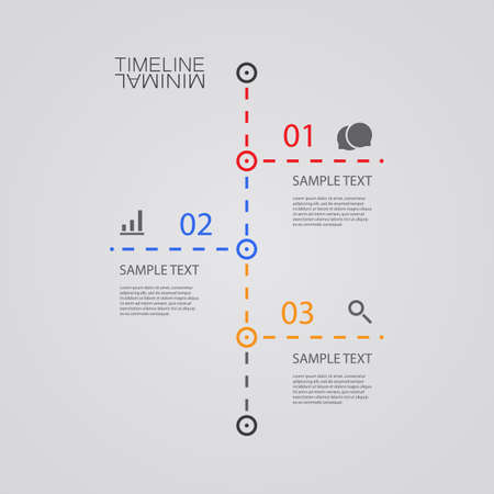 dashed line: Vector Infographic Timeline - Report Design Template