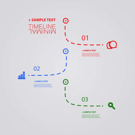 dashed: Vector Infographic Timeline - Report Design Template