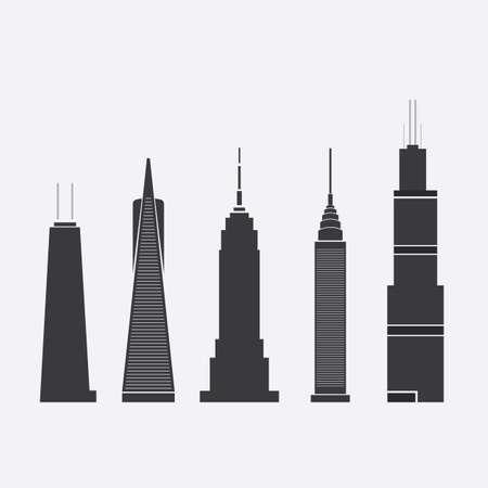 Wolkenkrabber Icons