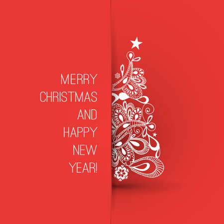 Christmas Greeting Card Design Template Ilustrace
