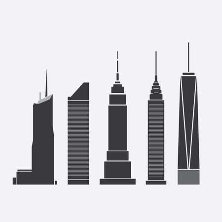 corporate buildings: Skyscraper Icons