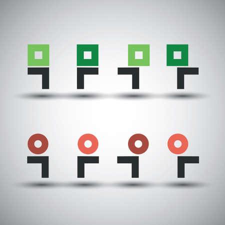 minimalista: Gyűjteménye Minimalista Icon Designs - Corporate Identity Ikonok - Az emberek