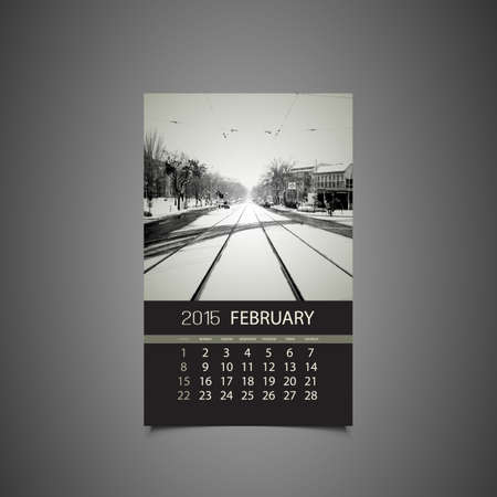 Calendar February 2015 Template Royalty Free Cliparts Vectors And