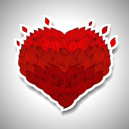 Heart Template for Valentines Day Vector