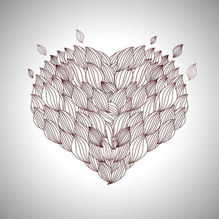 friendliness: Heart Template for Valentines Day Illustration