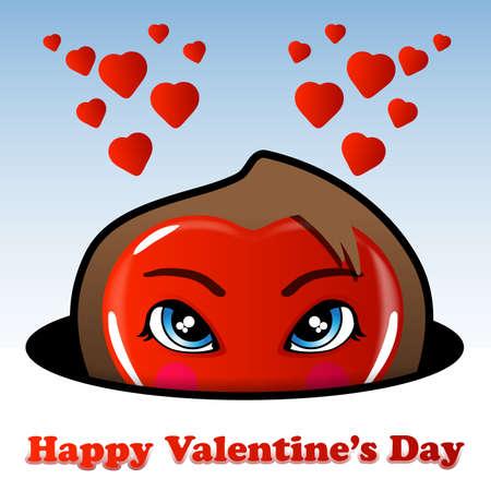 eyes wide open: Valentines Day Background