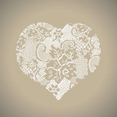 Ornamental Heart Shaped Pattern - Valentines Day Card Template Vector