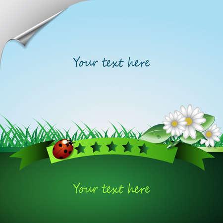 ozone friendly: Eco Vector Background
