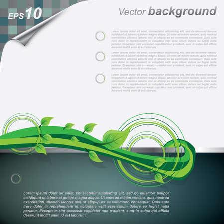 ozone friendly: Vector Eco Background