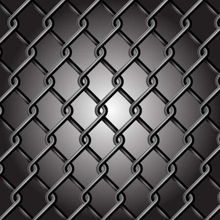 chain link: Chain Fence Vector