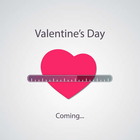 Valentines Day Is Coming - Greeting Card Concept
