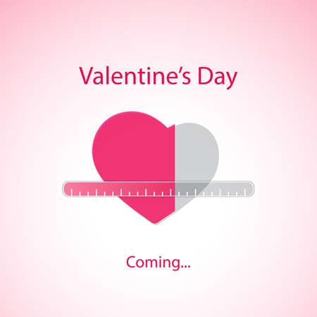 Valentijnsdag komt eraan - Wenskaart Concept