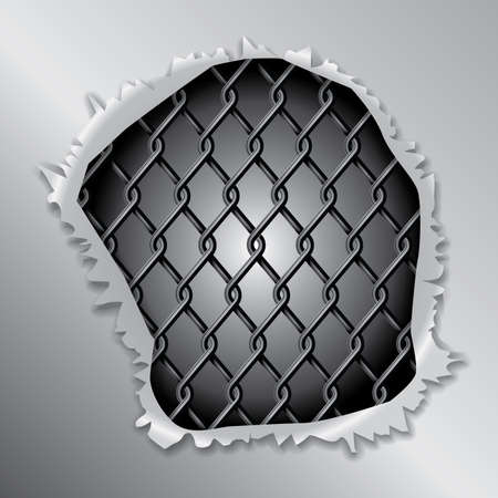 chained: Metallic Fence Background Concept