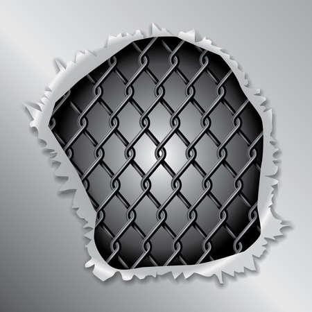 metallic background: Metallic Fence Background Concept
