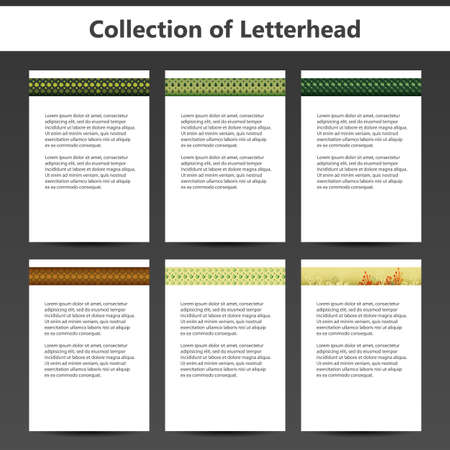 letter head: Collection of Letterheads for Your Business - Six Nice and Simple Design Template with Different Patterns