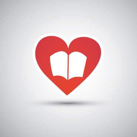 I Love Books - Book Icon Design Vector