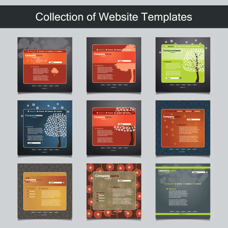 Collection of Website Templates for Your Business Vector