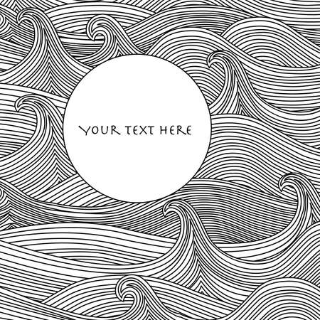 black and white line drawing: Abstract Vector Background Illustration