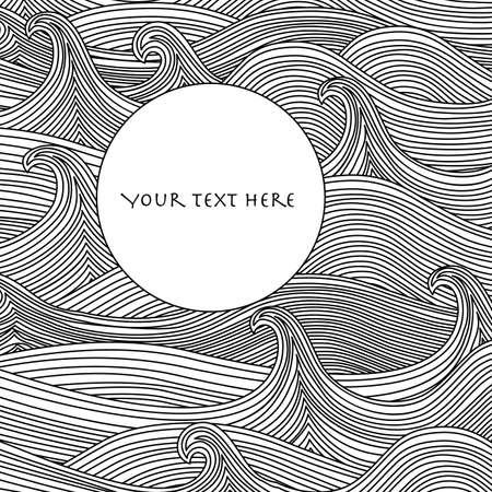olas de mar: Vector de fondo abstracto