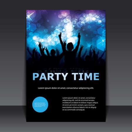 チラシやカバー デザイン - パーティー タイム