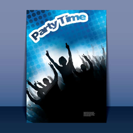cover background time: Flyer or Cover Design - Party Time - Party Time - Party Flyer with Spotted Background