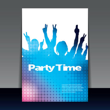 cover background time: Flyer or Cover Design - Party Time