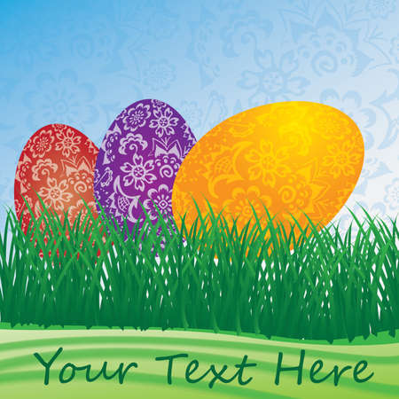 paschal: Easter Background or Card Template Illustration