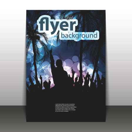 nightclub: Flyer or Cover Design - Beach Party