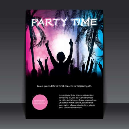 Flyer of Cover Design - Beach Party Stock Illustratie