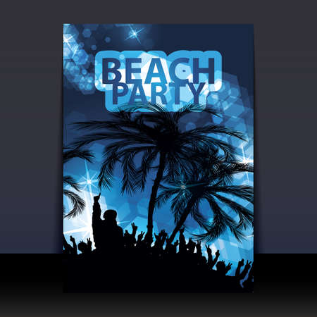 white party: Flyer or Cover Design - Beach Party