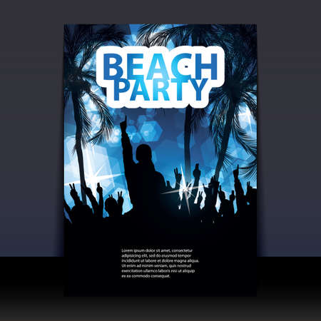 beach happy new year: Flyer or Cover Design - Beach Party