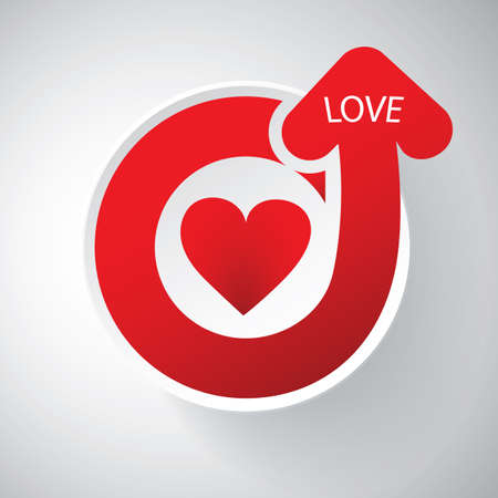 love target: Heart Design - Full of Love Icon - Happy Valentines Day Card or Icon