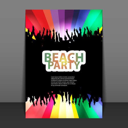 background cover: Flyer or Cover Design - Beach Party