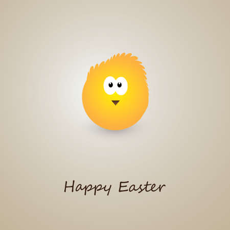 Happy Easter Card with Little Chicken Design Vettoriali