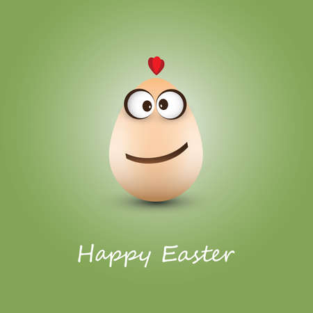 Funny Chicken Egg - Happy Easter Card