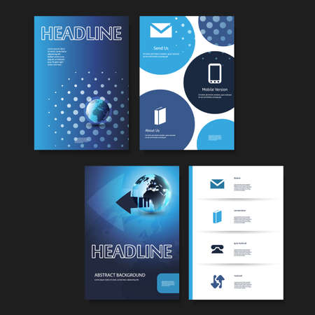 it tech: Flyer or Cover Design Template Set - Business, Corporate Identity