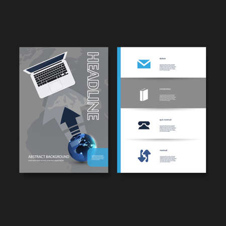 Flyer or Cover Design Template Set - Business, Network, Corporate Identity Vector