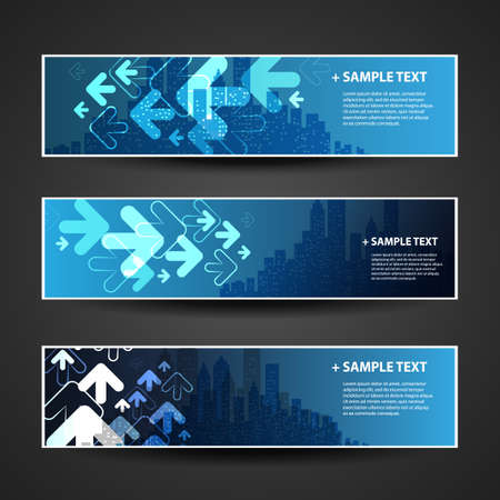 Banner or Header Design - Connections, Networks, Economy Vector
