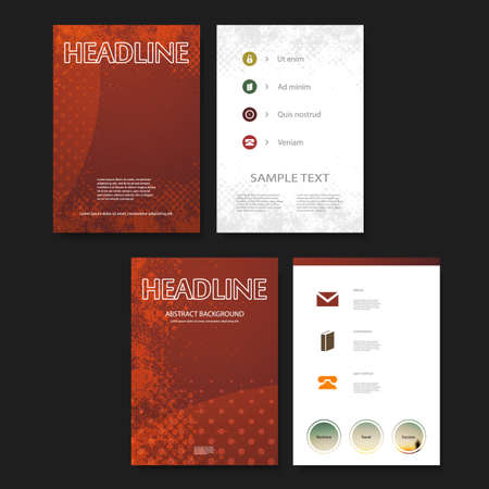 book style: Flyer or Cover Design Background Template for Your Business or Corporate Identity Illustration