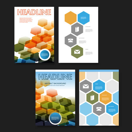 Flyer or Cover Design Background Template for Business or Corporate Identity Vector