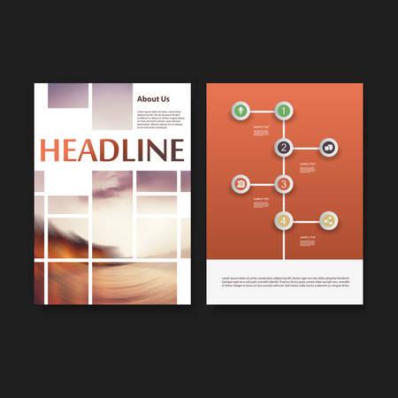 the brochure: Flyer o la cubierta de la plantilla de dise�o - Empresariales, Redes, Infograf�a - Concepto Identidad Corporativa